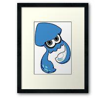 Splatoon - Blue Inkling Squid Framed Print