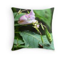 Wild Flower--Small Snail Throw Pillow