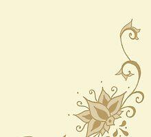 Climbing Lotus in Henna by ArtByDrax
