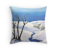 Snowy  Scene Throw Pillow