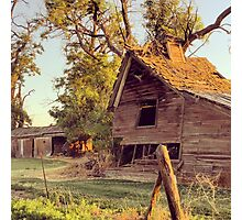 Distressed Red Barn Washington State Photographic Print
