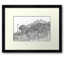 A white boletus among mosses Framed Print
