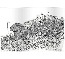 A white boletus among mosses Poster