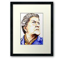 Strong Women characters of Coronation Street : Ena Sharples 390 views Framed Print