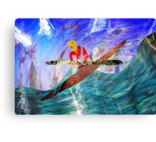 Paddling on Glass Water Canvas Print