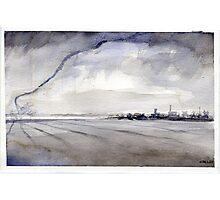 Tornado Roping Out - Original Watercolor  Photographic Print