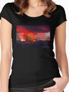 Sunrise over Colorado at Garden of the Gods Women's Fitted Scoop T-Shirt