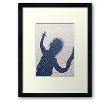 One hand free to play  Framed Print