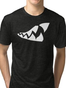 Shark Teeth Design Tri-blend T-Shirt
