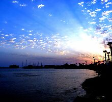 Paphos Harbour Sunset 2, Cyprus by Adrian S. Lock