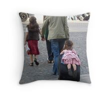 Family on tour Throw Pillow