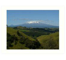 Mt. Ruapehu - Tongariro National Park. NZ Art Print