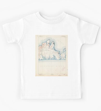 Massachusetts  USGS Historical Topo Map MA Marthas Vineyard 352840 1894 62500 Kids Tee