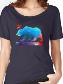 California State Flag Bear (fractal angles) Women's Relaxed Fit T-Shirt