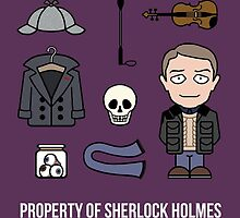 Property of Sherlock Holmes (card/notebook) by redscharlach