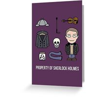 Property of Sherlock Holmes (card/notebook) Greeting Card