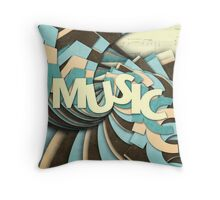 Music Throw Pillow