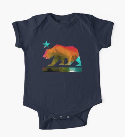 California State Flag Bear (fractal angles) One Piece - Short Sleeve