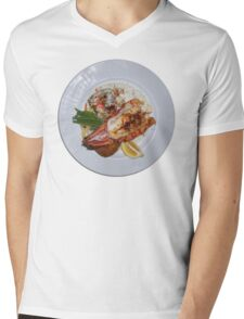 Lobster Dinner Mens V-Neck T-Shirt