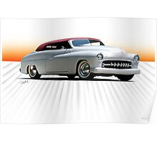 1950 Mercury 'Kustom' Convertible Poster