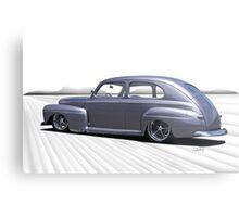 1947 Ford Deluxe Sedan 'In Perspective' Metal Print