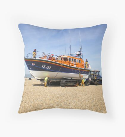 Dungeness Lifeboat Throw Pillow