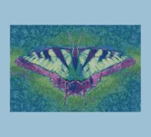 BUTTERFLY PLEASES WHEREVER IT GOES Kids Clothes