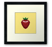 8-bit Strawberry Framed Print