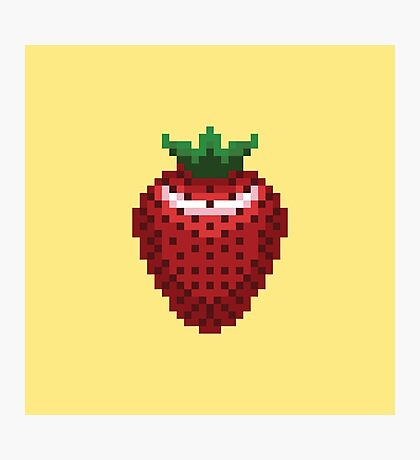 8-bit Strawberry Photographic Print