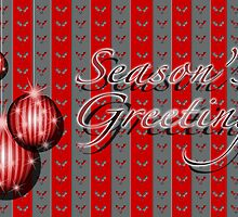 Season's Greetings - Red/Grey by ChiaraLily