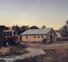 Farm at dust Wasington State by JULIENICOLEWEBB
