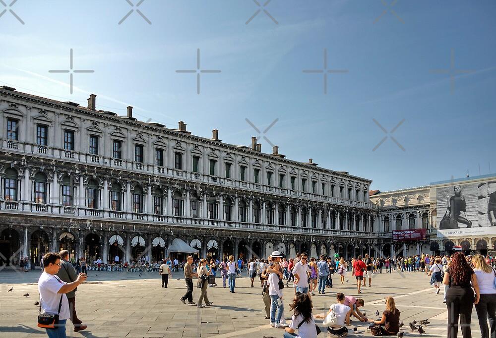 Tourists in Piazza San Marco by Tom Gomez