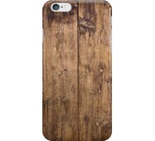 Old wooden planks iPhone Case/Skin