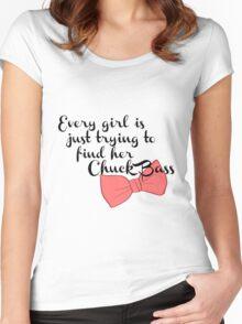 Finding my Chuck Bass - Gossip Girl Women's Fitted Scoop T-Shirt