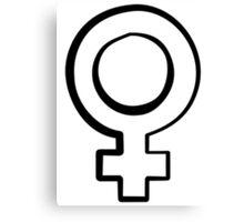 Venus symbol - feminism  Canvas Print
