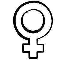 Venus symbol - feminism  Photographic Print