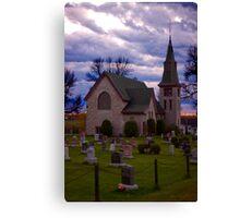 Small town church Canvas Print
