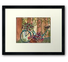 Bike and Ivy Framed Print