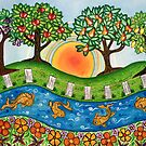 &quot;Sunrise At The Orchard&quot;  by Lisa Frances Judd ~ Original Australian Art