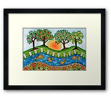 """Sunrise At The Orchard""  Framed Print"