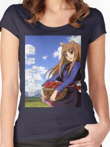 Ookami to Koushinryou - Spice and Wolf - Holo - Cleaned DVD 4 Women's Fitted Scoop T-Shirt