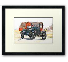 Ford Model T Antique Pickup Truck Framed Print