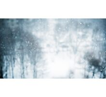 Winter blur background with snowflakes Photographic Print