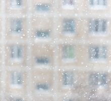 Snowfall in a big city by dvoevnore
