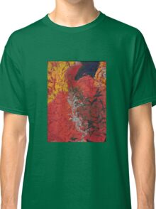 Red and Silver Abstract Classic T-Shirt