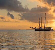 Recreational Yacht at the Indian Ocean by dvoevnore