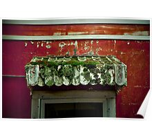 """""""Mossy Awning"""" - Memphis, Tennessee Poster"""