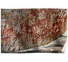 Aboriginal ochre stencil. Carnarvon Gorge. Poster