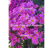 Flowers For Breast Cancer Awareness ! Photographic Print