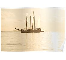 Recreational Yacht at the Indian Ocean Poster